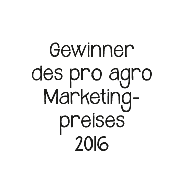 pro agro Marketingpreis 2016 Störer